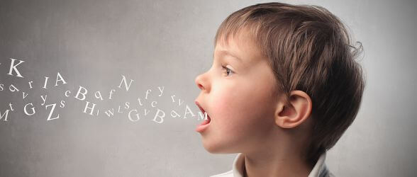 Child speaking many syllables